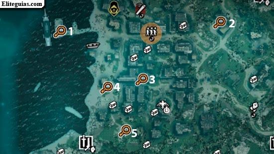Mapa de las investigaciones