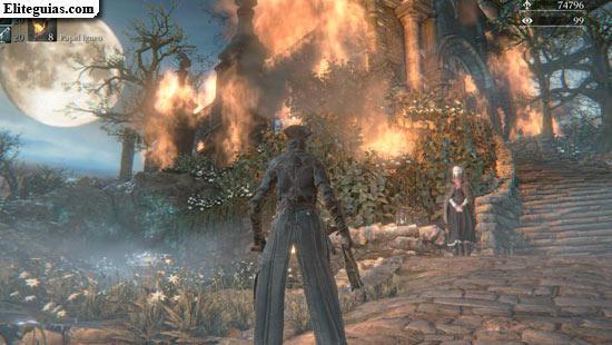 casa ardiendo en Sueño del Cazador