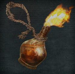 Cóctel molotov con cuerda