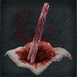 Fragmento de piedra de sangre