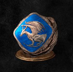 Anillo de emblema de dragón eterno