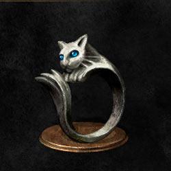 Anillo de gato de plata