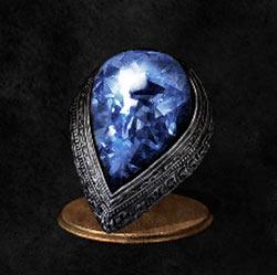 Anillo de lágrima de piedra azul