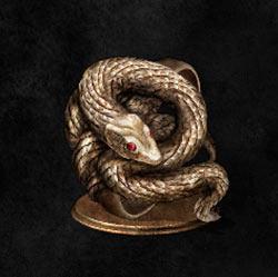 Anillo de serpiente dorada codiciosa