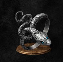 Anillo de serpiente plateada codiciosa