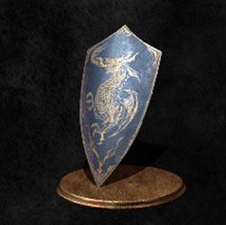 Escudo con emblema de dragón