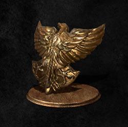 Escudo de halcón dorado