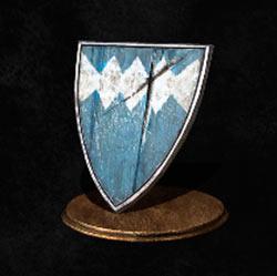 Escudo de madera azul