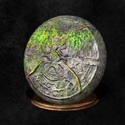 Gran escudo de piedra