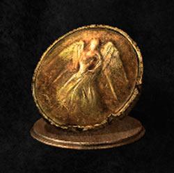 Moneda de oro oxidada