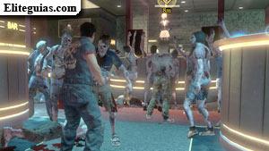 Annie rodeada de zombis