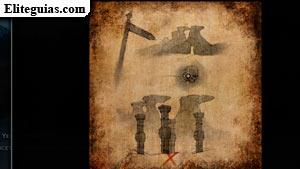 Boceto: La tumba de los cuatro pilares