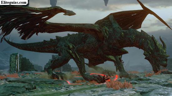 Dragón de lirio rojo