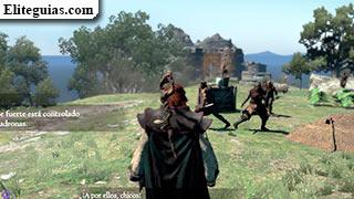 bandidos en las afueras de las Ruinas del Castillo Aernst