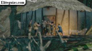 muchedumbre enfurecida frente a la casa de la bruja