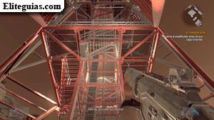 Subir a la torre para conectar el amplificador