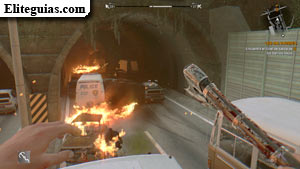 túnel de salida
