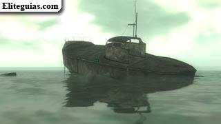barco medio hundido
