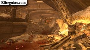 Entrada al túnel del paso elevado derrumbado
