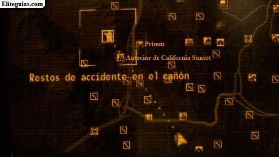 Restos de accidente en el cañón