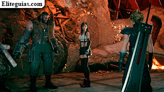 Cloud, Barret y Tifa