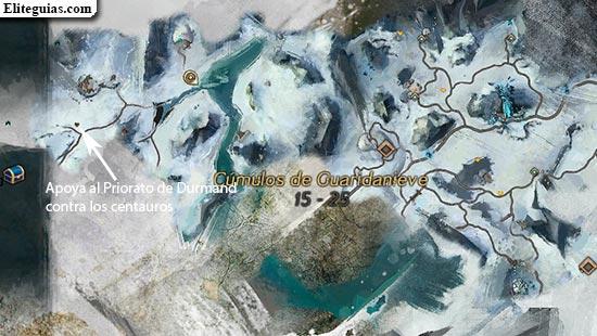 Apoya al Priorato de Durmand contra los centauros
