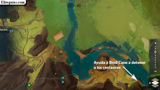 Ayuda a Broil Cane a detener a los centauros
