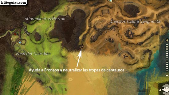 Ayuda a Bronson a neutralizar las tropas de centauros