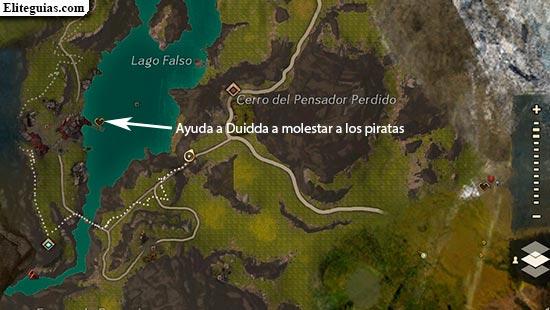Ayuda a Duidda a molestar a los piratas
