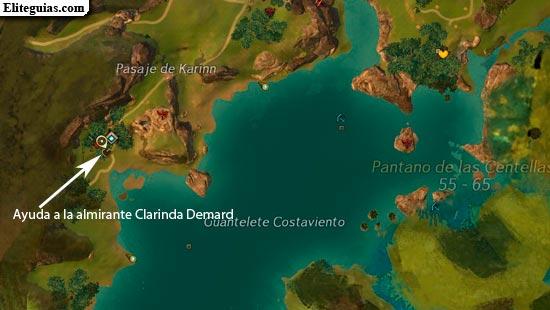 Ayuda a la almirante Clarinda Demard