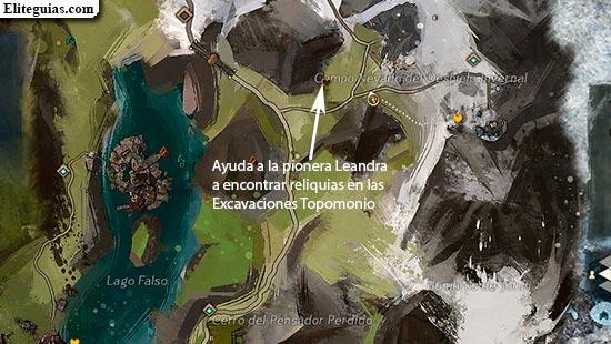 Ayuda a la pionera Leandra a encontrar reliquias en las Excavaciones Topomonio