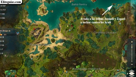 Ayuda a las tribus Atzintli y Zopatl a luchar contra los krait
