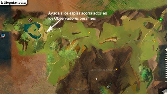 Ayuda a los espías acorralados en los Observadores Serafines