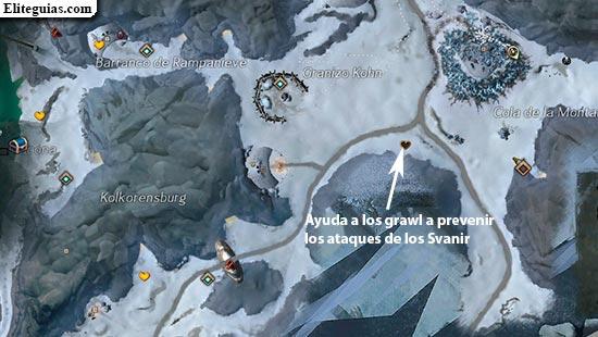 Ayuda a los grawl a prevenir los ataques de los Svanir