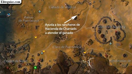 Ayuda a los rancheros de Hacienda de Charradis a atender el ganado