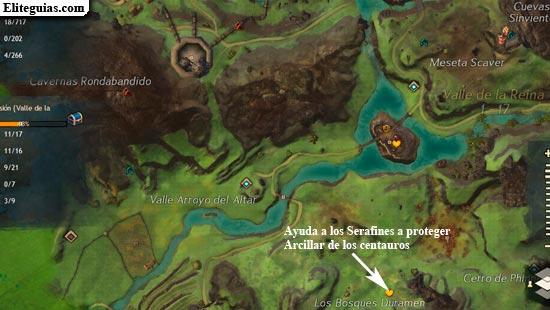 Ayuda a los Serafines a proteger Arcillar de los centauros