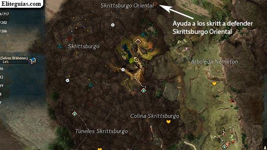Ayuda a los skritt a defender Skrittsburgo Oriental