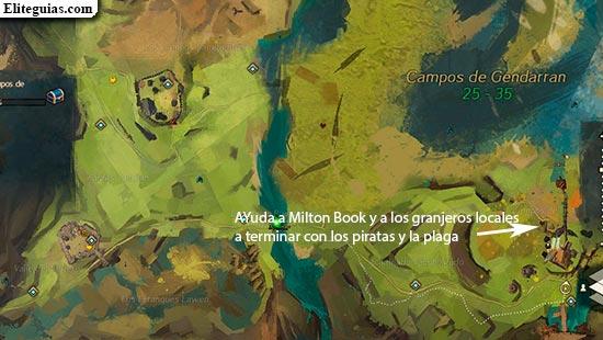 Ayuda a Milton Book y a los granjeros locales a terminar con los piratas y la plaga