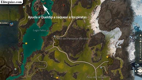 Ayuda a Queldip a saquear a los piratas