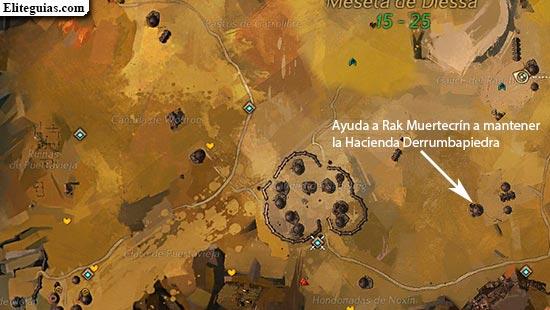 Ayuda a Rak Muertecrín a mantener la Hacienda Derrumbapiedra