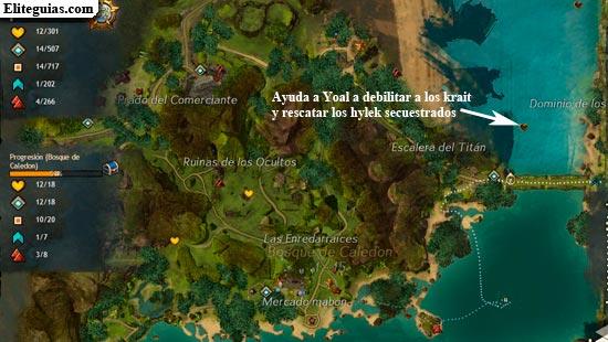 Ayuda a Yoal a debilitar a los krait y rescatar los hylek secuestrados