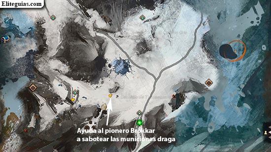 Ayuda al pionero Brokkar a sabotear las municiones draga