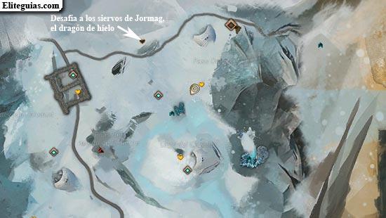 Desafía a los siervos de Jormag, el dragón de hielo