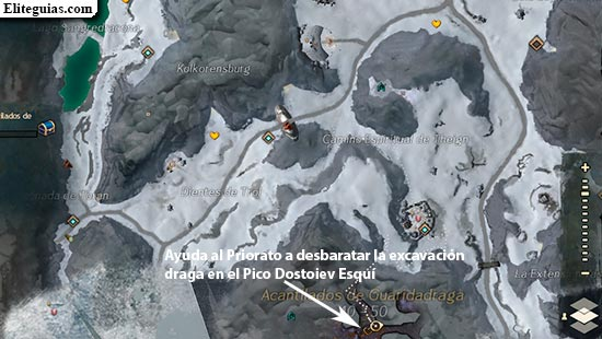 Ayuda al Priorato a desbartar la excavación draga en el Pico Dostoiev Esquí