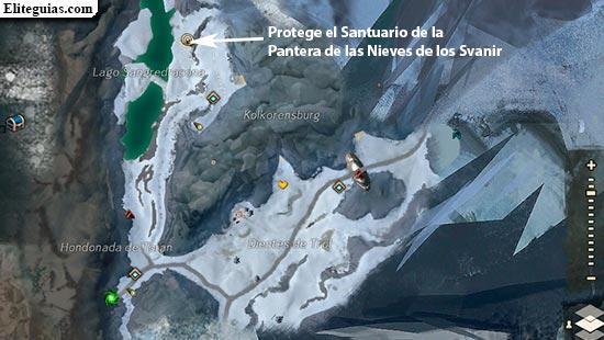 Protege el Santuario de la Pantera de las Nieves de los Svanir