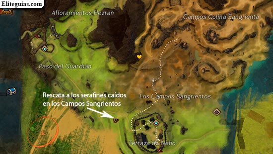 Rescata a los serafines caídos en los Campos Sangrientos