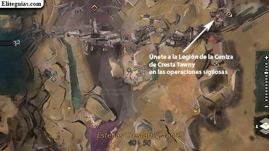 Únete a la Legión de la Ceniza de Cresta Tawny en las operaciones sigilosas