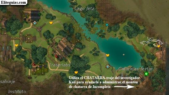Utiliza el CHATARRA-traje del investigador Kaii para ayudarle a administrar el montón de chatarra de Incompleta
