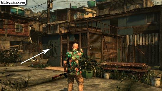 Grafiti de banda de parte media de favela