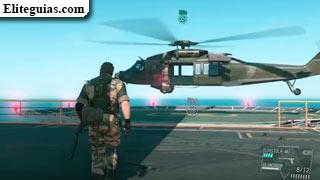 helicóptero en la Base Madre